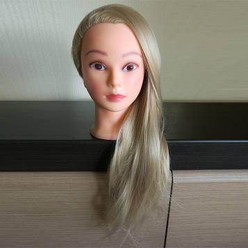 Голова навчальна для перукарів. Світле волосся 60 див.
