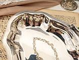 Винтажная посеребренная фруктовница на ножках, красивое посеребренное блюдо, серебрение, мельхиор, Англия, фото 5