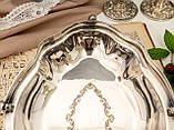 Винтажная посеребренная фруктовница на ножках, красивое посеребренное блюдо, серебрение, мельхиор, Англия, фото 6