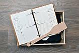 Набор для кухни. Деревянный блокнот, дубовая досточка, фартук и лопатка. (A001001), фото 2