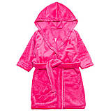 """Махровый детский халат на запах с капюшоном """"Princess"""" р. 26-34, фото 3"""