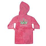 """Махровый детский халат на запах с капюшоном """"Princess"""" р. 26-34, фото 4"""