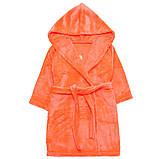 """Махровый детский халат на запах с капюшоном """"Princess"""" р. 26-34, фото 5"""