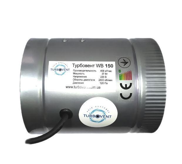 Осевой канальный вентилятор Турбовент WB-V 150(ВКО-150)