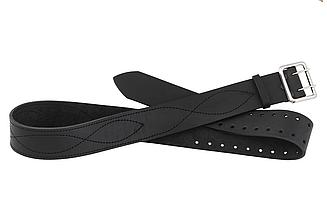 Ремень поясной портупейный 120 см (кожа, чёрный)