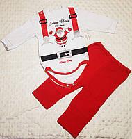 Детский новогодний костюм двунить с начёсом для мальчика на рост 74-92, 80
