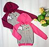 Детская спортивная кофта на молнии с капюшоном на байке ТМ Бемби