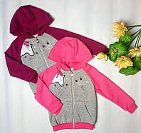 Детская спортивная кофта на молнии с капюшоном на байке ТМ Бемби, фото 1