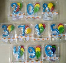 Цифра з кульками дитяча (блакитна)