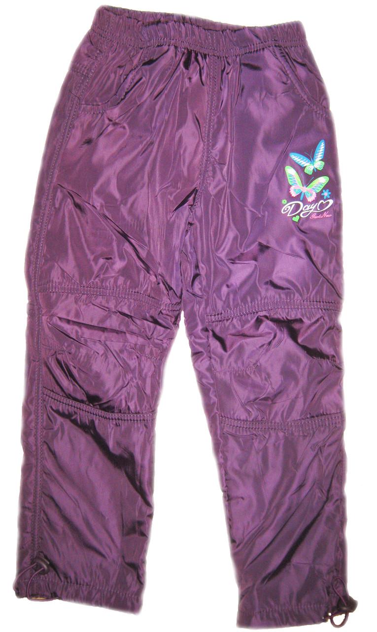 Теплые штаны зимние из плащевки на девочку