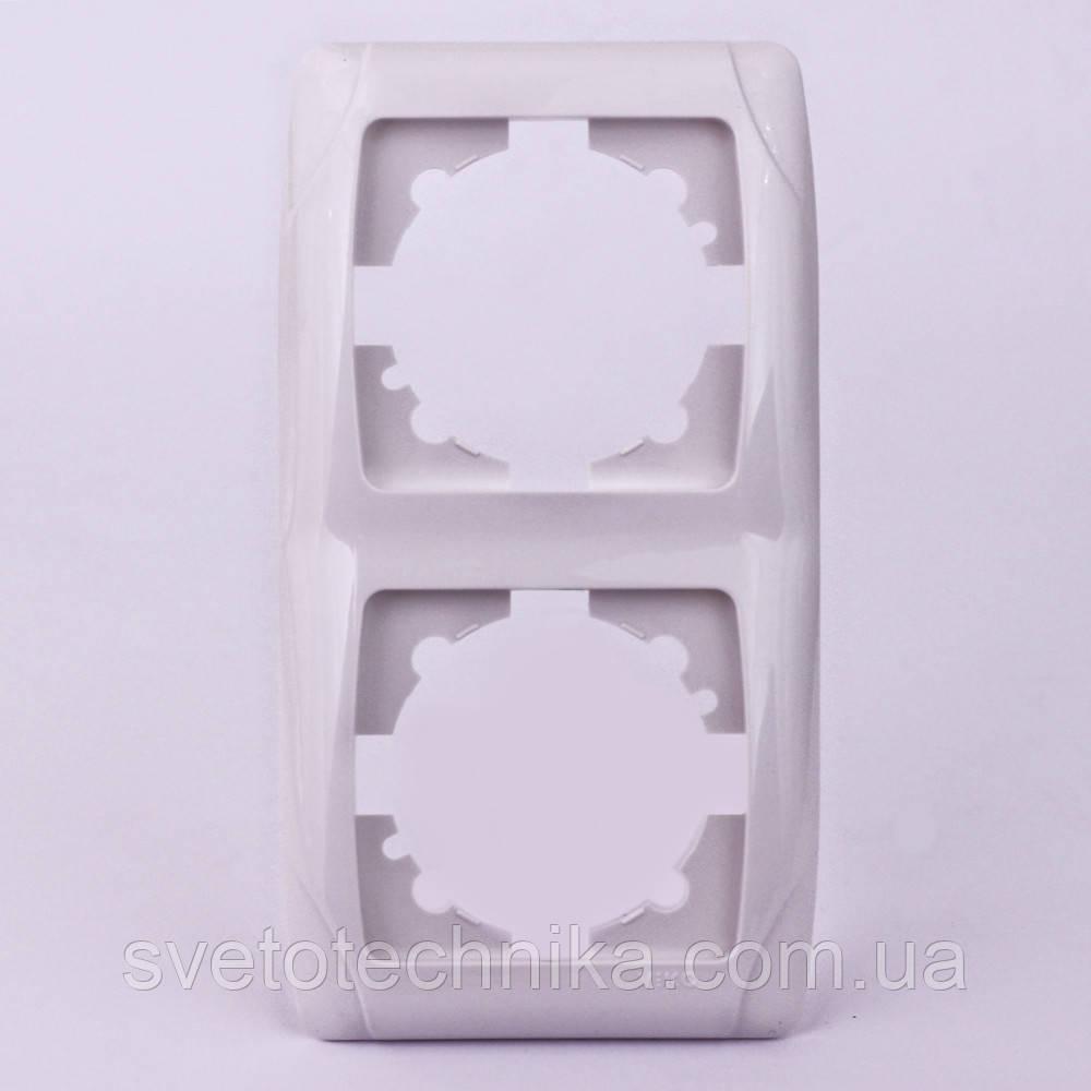 Рамка VI-KO Carmen двойная вертикальная ( скрытая установка, рамка 2 ) Белого цвета.