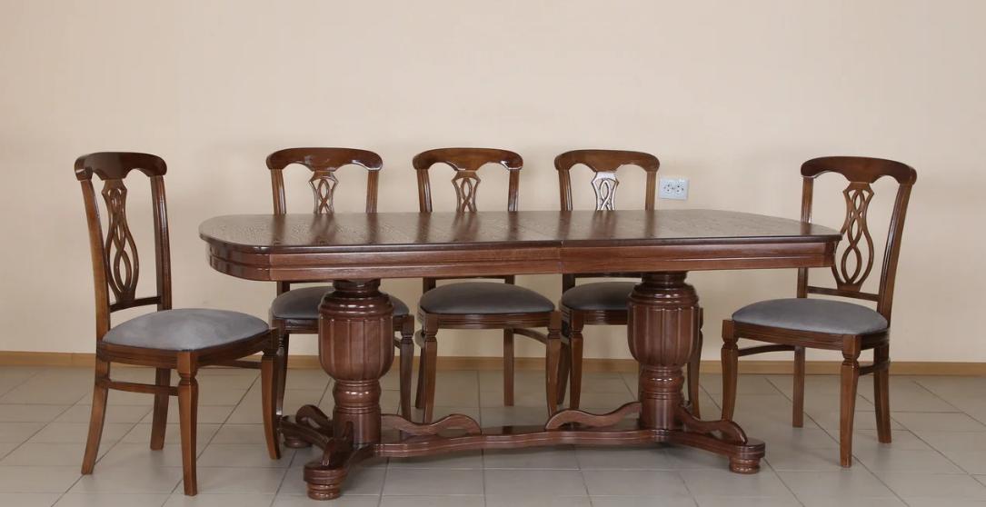 Стол обеденный раскладной Барон Микс мебель, цвет орех