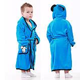 """Махровый детский халат для мальчика на запах с капюшоном """"Mouse"""" р. 26-34, фото 2"""
