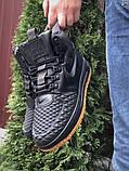 Nike Lunar Force 1 Duckboot  зимние мужские кроссовки темно-синие на меху, фото 2