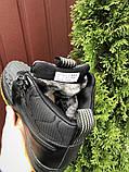 Nike Lunar Force 1 Duckboot  зимние мужские кроссовки темно-синие на меху, фото 4