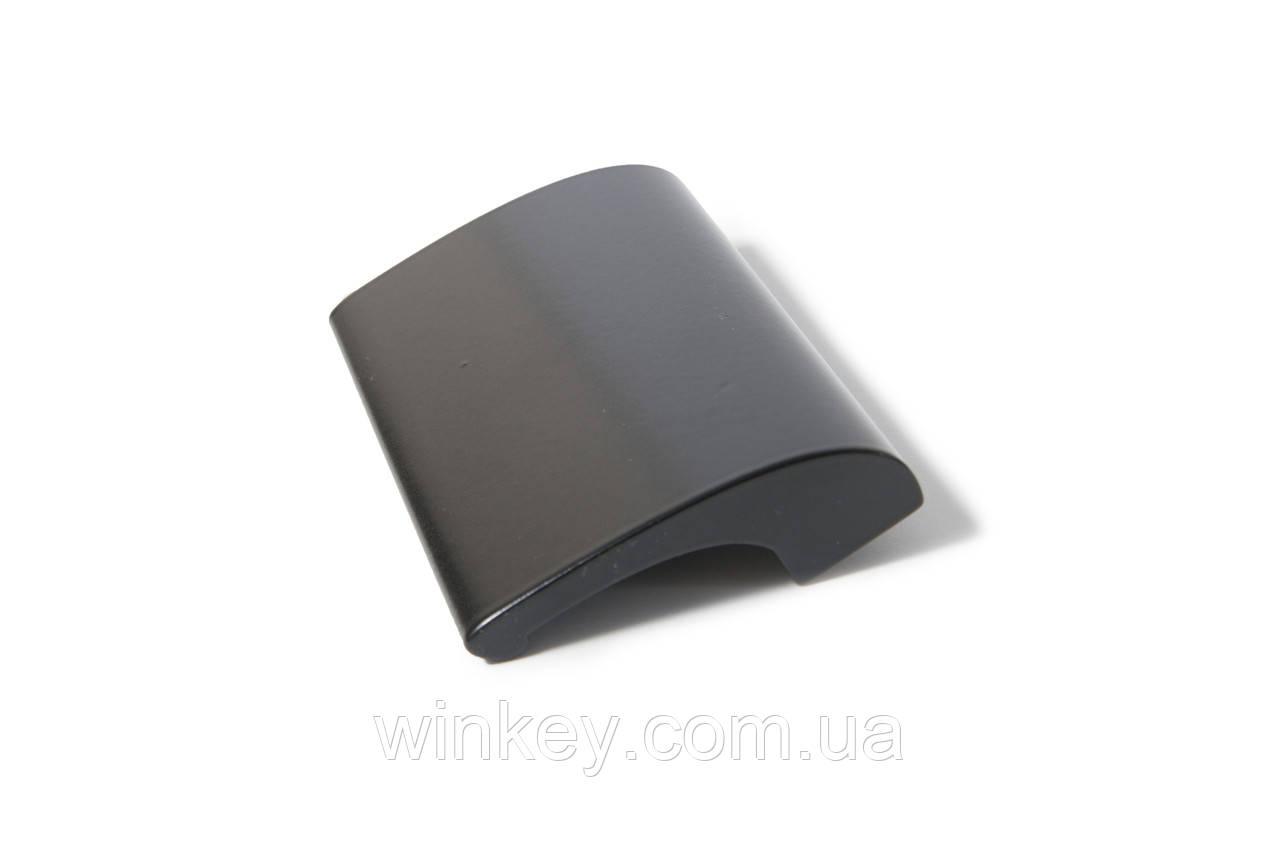 Ручка балконная DE LUXE (курильщика,ракушка) черная