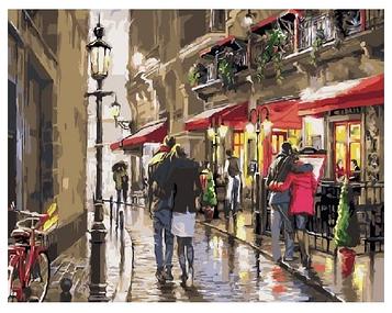 Картина по номерам 40х50 см DIY Дождь в городе (NX 9222)