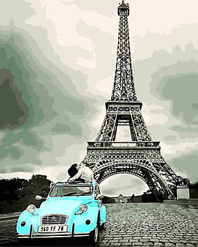 Картина по номерам 40х50 см DIY Рэтро Париж (NX 9241)