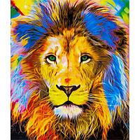 Картина по номерам 40х50 см DIY Игра красок Лев (FX 30580)