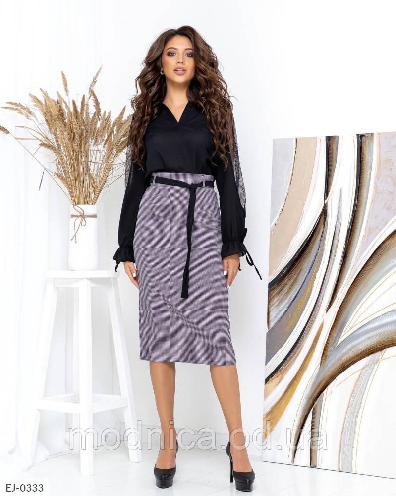 Женская длинная юбка в клетку, размеры S, M, L, XL
