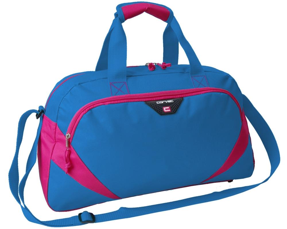 Жіноча спортивна сумка 24L Corvet синя з рожевим