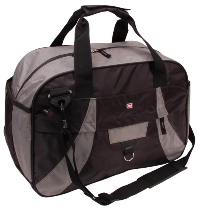 Спортивная сумка 28L Corvet SB1002 черная с серым
