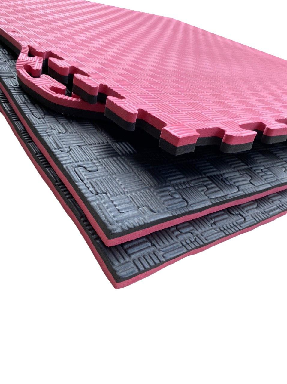 Покрытия для детской комнаты 1000х1000х20мм мат татами ласточкин хвост EVA красно-черный