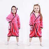 """Махровый детский халат на запах с капюшоном """"Mikki"""" р. 26-34, фото 2"""