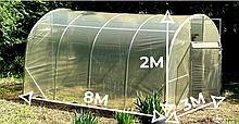 Теплица «Веган» 3х8 из оцинкованной квадратной трубы с пленкой 120 мкм