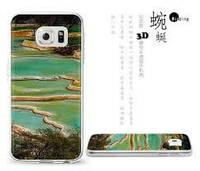 Чехол BUSTYLE 3D Half Transparent для Samsung Galaxy S6 Edge (Река SZI6-UV4D-568)