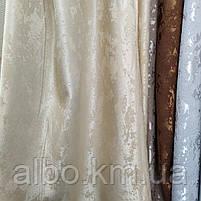 Щільна шторна мармурова тканина однотонна, висота 2.8 м на метраж, фото 5