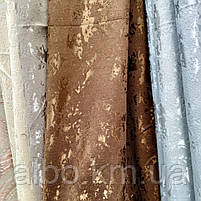 Щільна шторна мармурова тканина однотонна, висота 2.8 м на метраж, фото 6
