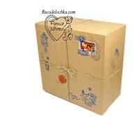 Крафтовая Коробка для подарка От Деда Мороза или Святого Николая 25*25*10см РУЧНАЯ РОБОТА!!!!!!!