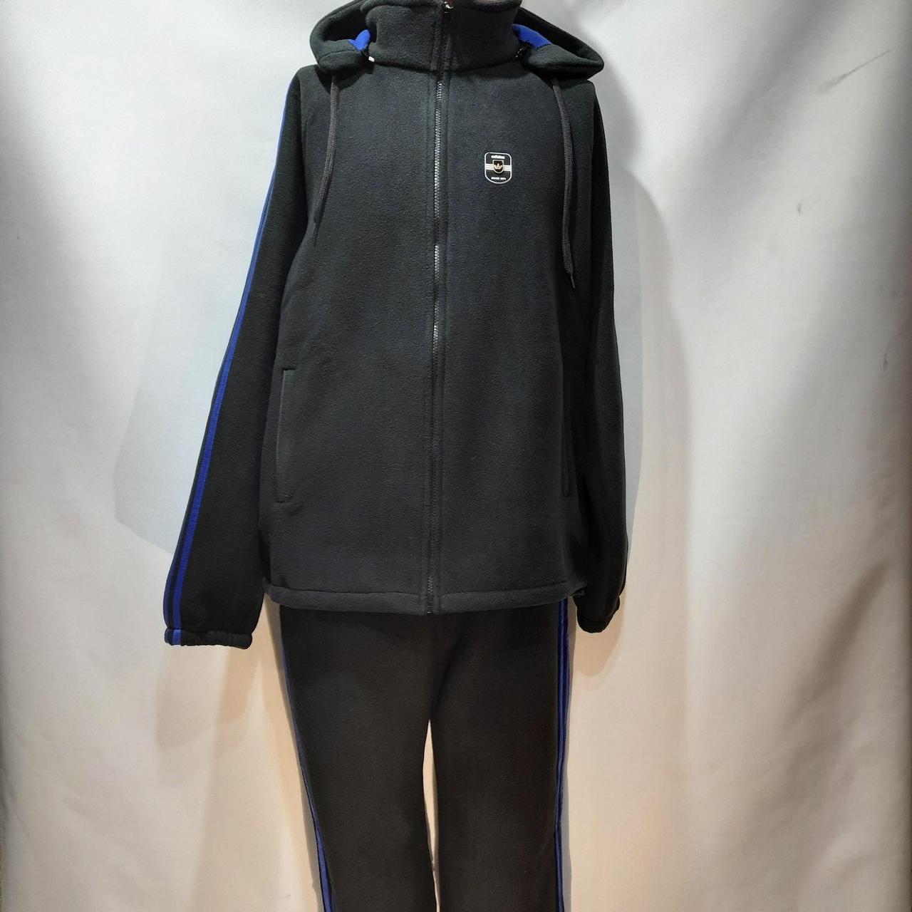 Спортивный костюм (Больших размеров) теплый на флисе с капюшоном