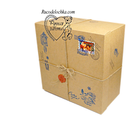 Крафтовая Коробка для подарка От Деда Мороза или Святого Николая 20*20*10см РУЧНАЯ РОБОТА!!!!!!!