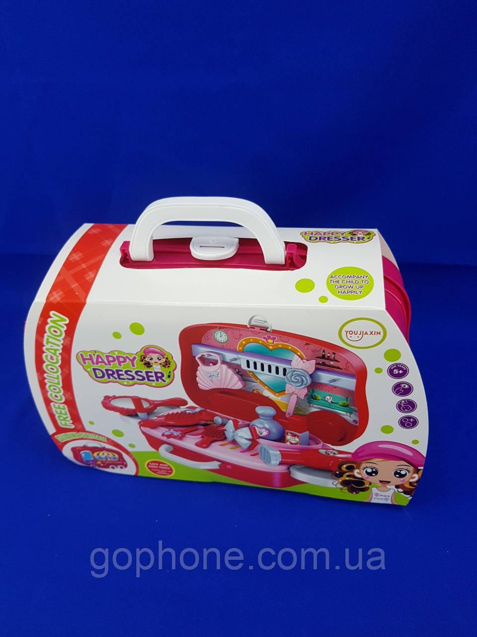 Набор для макияжа Happy Dresser детский с выдвижным чемоданчиком