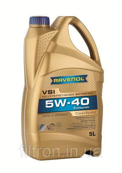 Моторное масло RAVENOL VSI 5W40 5L