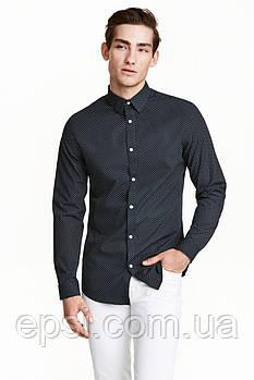 Рубашка HM XS темно-синий в горошек 4005314RP2