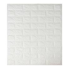 Декоративная 3D панель самоклейка под кирпич Белый 700x770x7мм