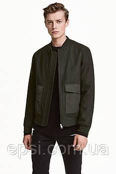 Куртка шерстяная HM S хаки 4024604RP2