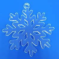 Снежинки из оргстекла прозрачный