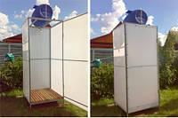 Преимущества использования поликарбоната для установки душевых кабин на дачном участке