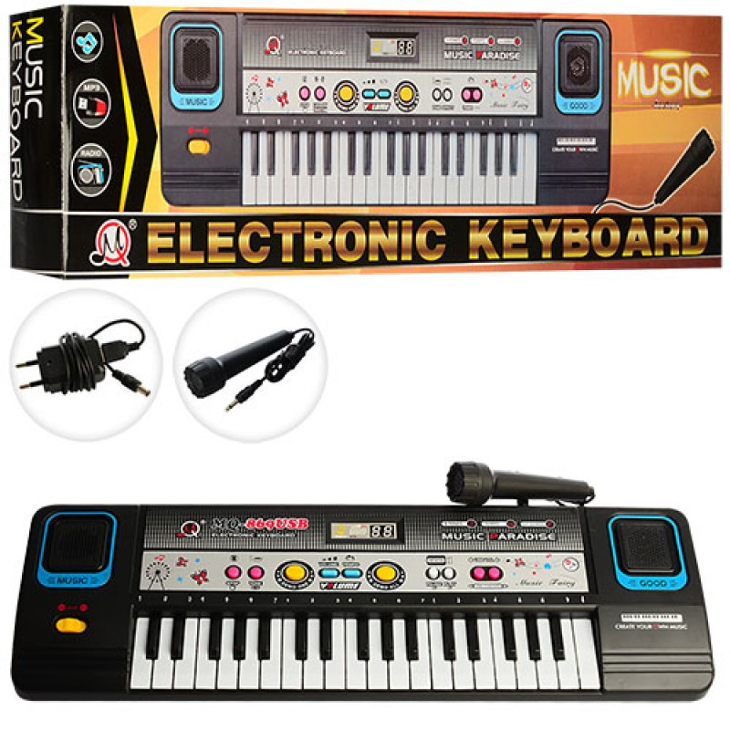 Синтезатор 37клавиш, микрофон,запись,USBвход,МР3, в кор-ке, 47-14-6см