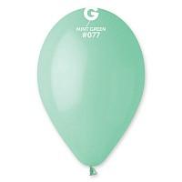 """Кулька 12""""/30 мятний (бірюза) 077 латекс пастель ТМ """"Gemar"""" однотонний шт."""
