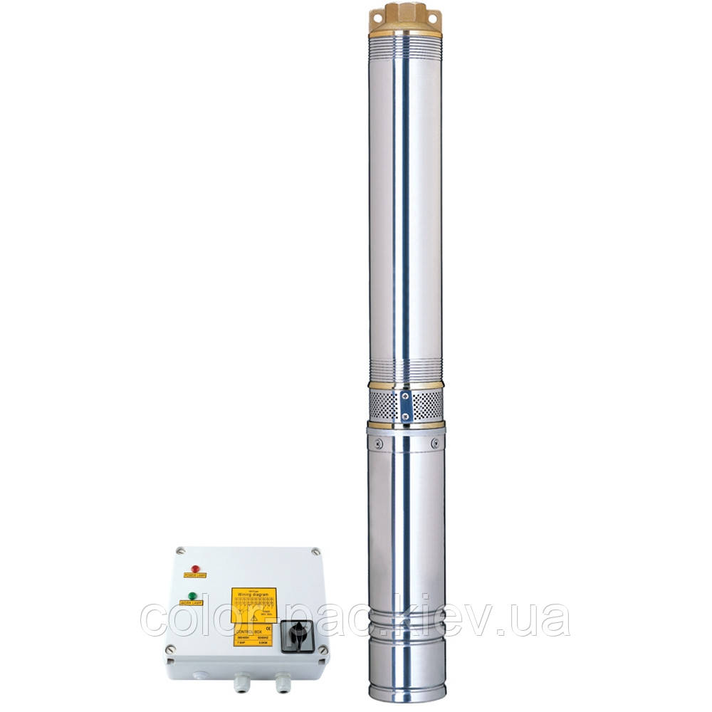 Відцентровий Насос свердловинний 380В 3.0 кВт H 188(124)м Q 140(100)л/хв Ø102мм AQUATICA (DONGYIN) (7771453)