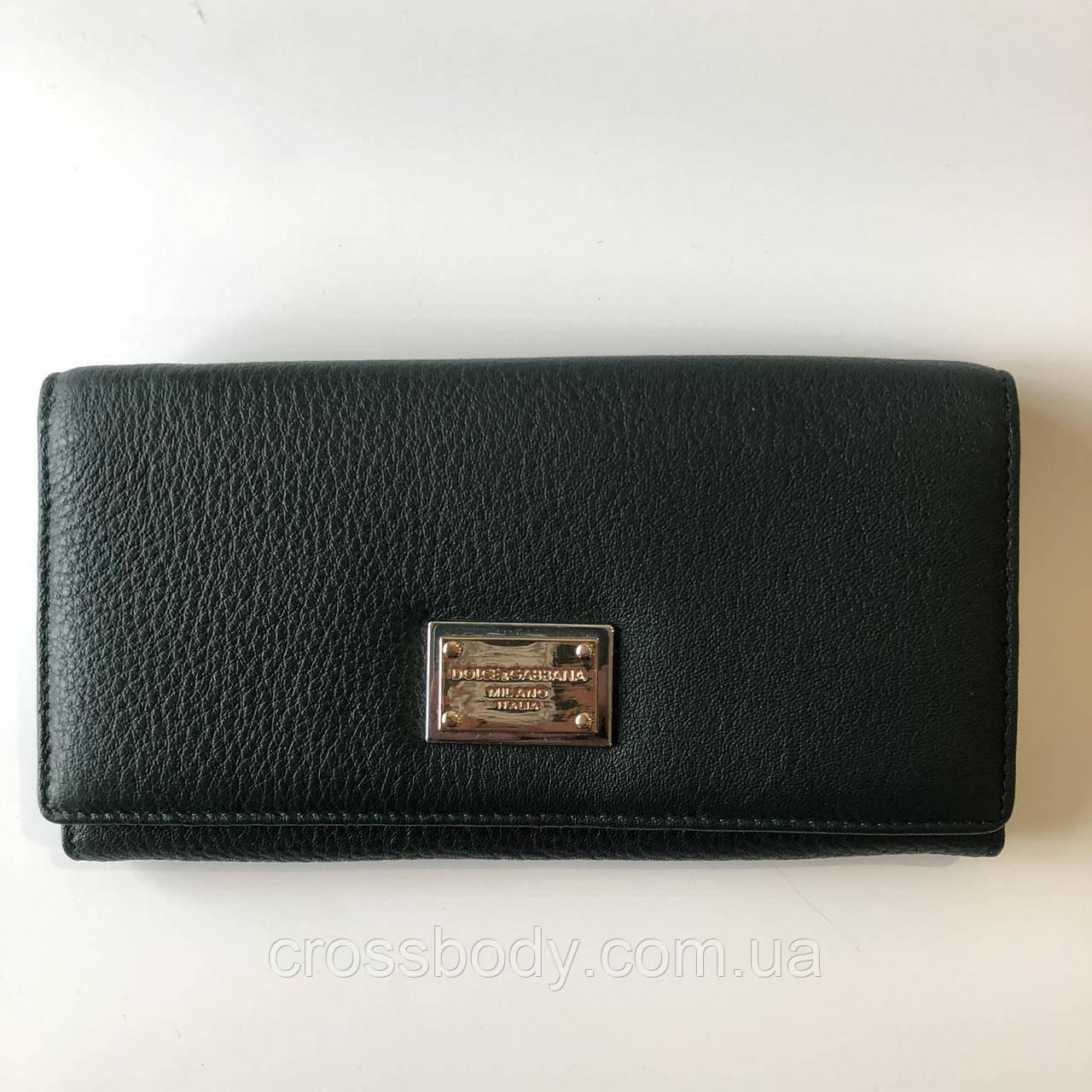 DG Женский кожаный портмоне зеленый