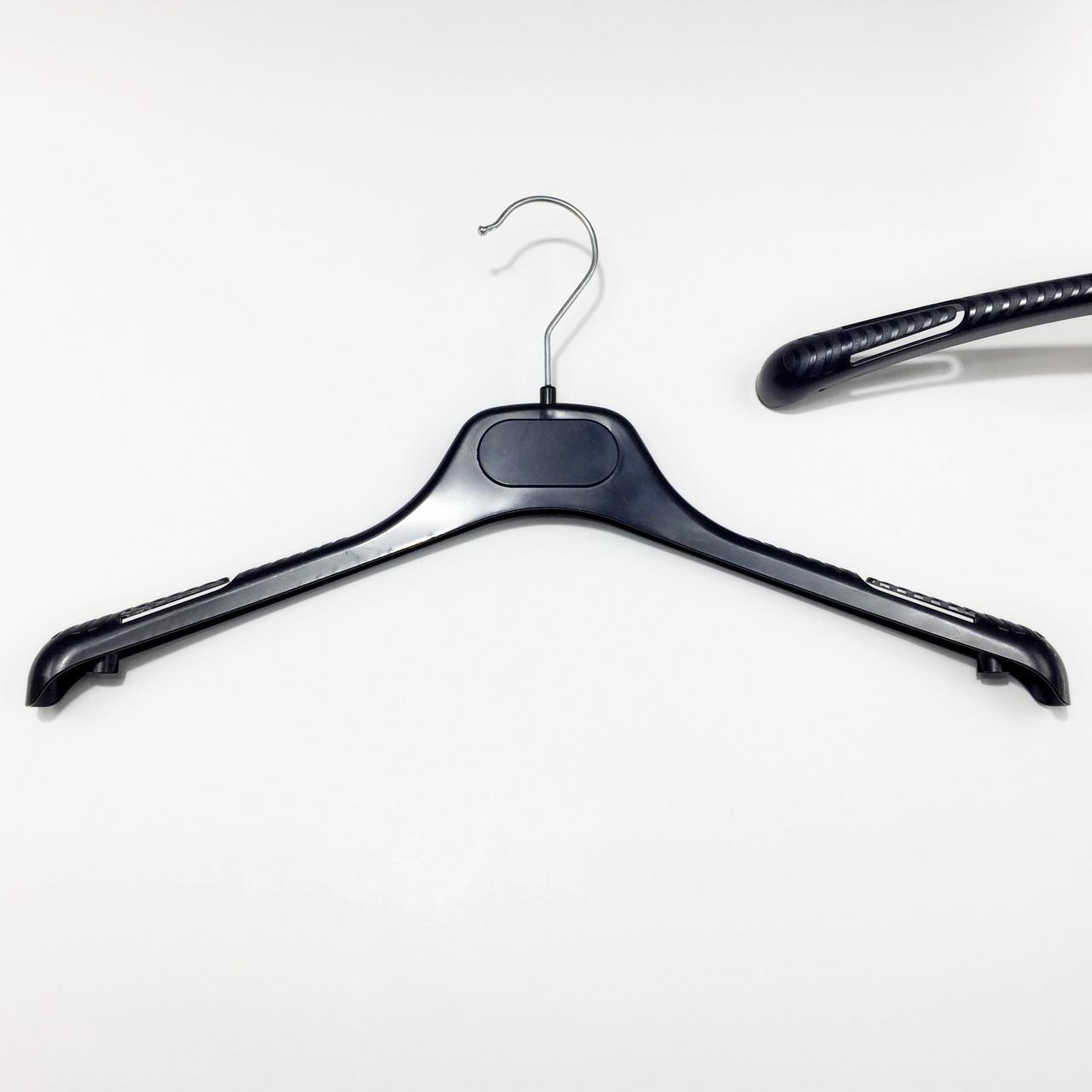 Пластиковые вешалки плечики для одежды W-TOP40 черного цвета, длина 400 мм