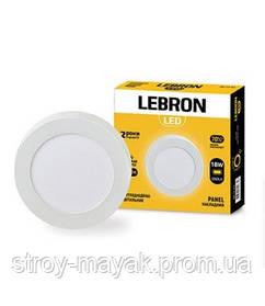 Светодиодный LED светильник LEBRON L-PRS-1841, 18W, Ø220 * 36мм, 4100K, 12600LM, накладной, яркий свет