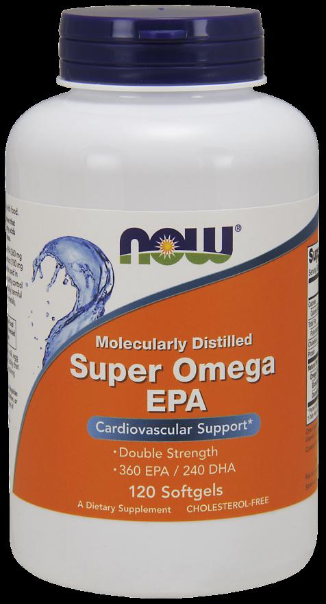 NOW Super Omega 3 EPA 1200mg 360/240 120sgels