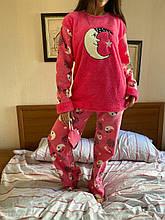 Піжама жіноча рожева утеплена код П208